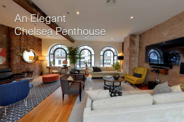 An elegant Chelsea penthouse