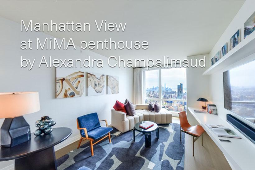 Manhattan View at MiMA penthouse by Alexandra Champalimaud