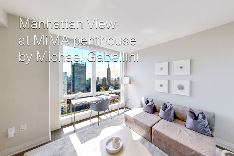 Manhattan View at MiMA penthouse by Michael Gabellini